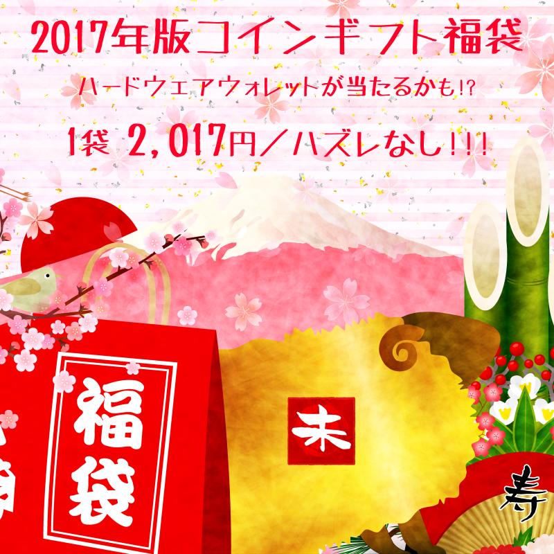 【豪華賞品入り】2017年版コインギフト福袋【ハズレなし】