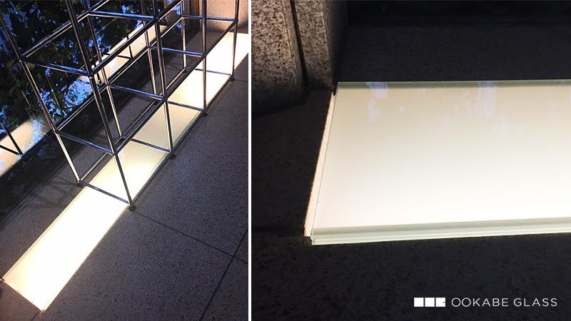 お客様事例 : 店舗の床材(間接照明)に「床用ガラス」をご注文されたH社様の事例