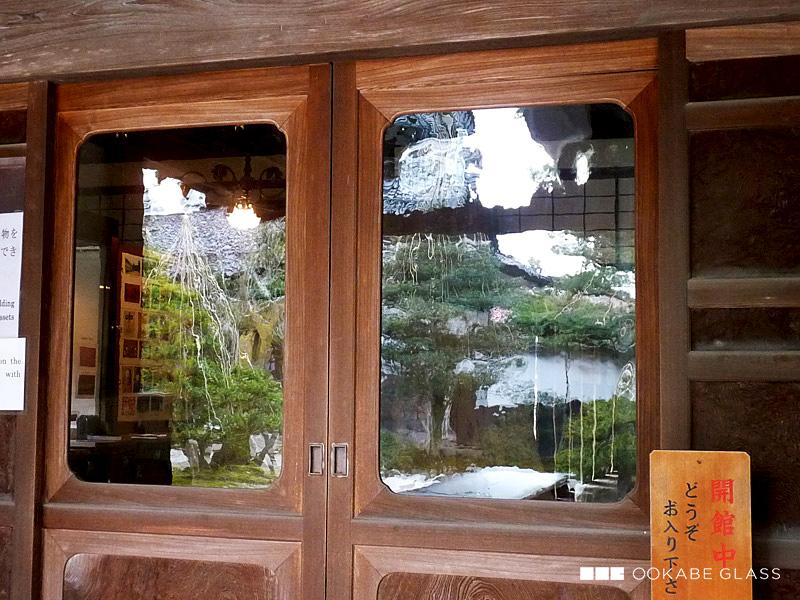 昭和レトロ風ガラス