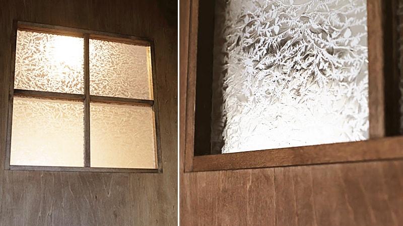 お客様事例 : ドア窓のガラスに「結晶ガラス」を設置したH様の事例