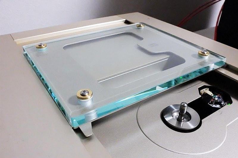 CDプレーヤーのガラス蓋に使用した「透明ガラス(10mm)」 (1)