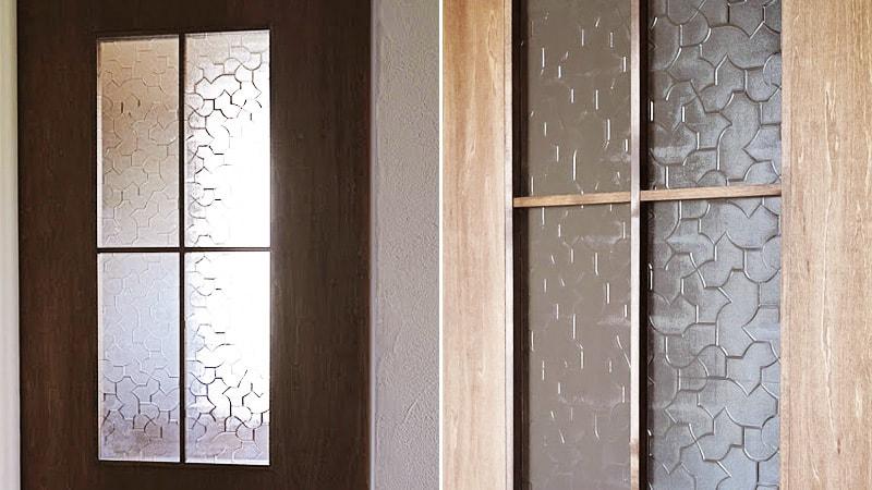 お客様事例 : ドア窓のガラスに「からたち」を使用したH様の事例
