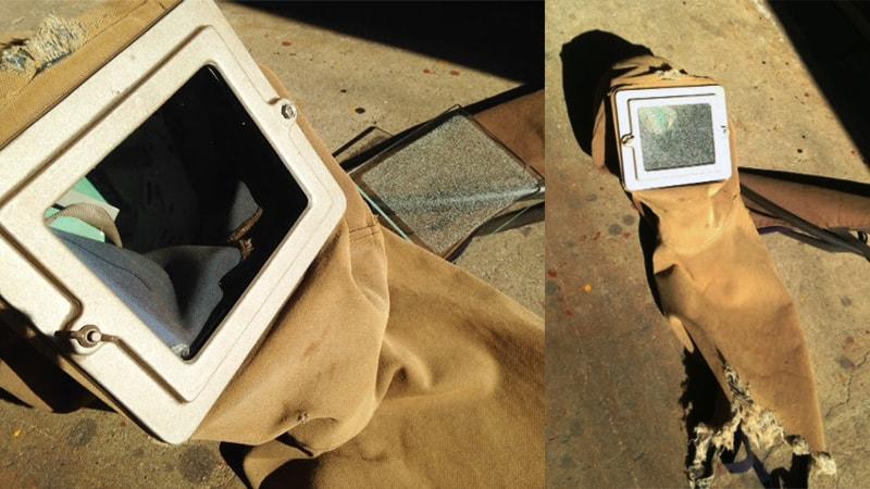ショットブラストマシンのお面の視認ガラスに「透明ガラス」を使用した事例(大阪府藤井寺市 A社様)のお写真