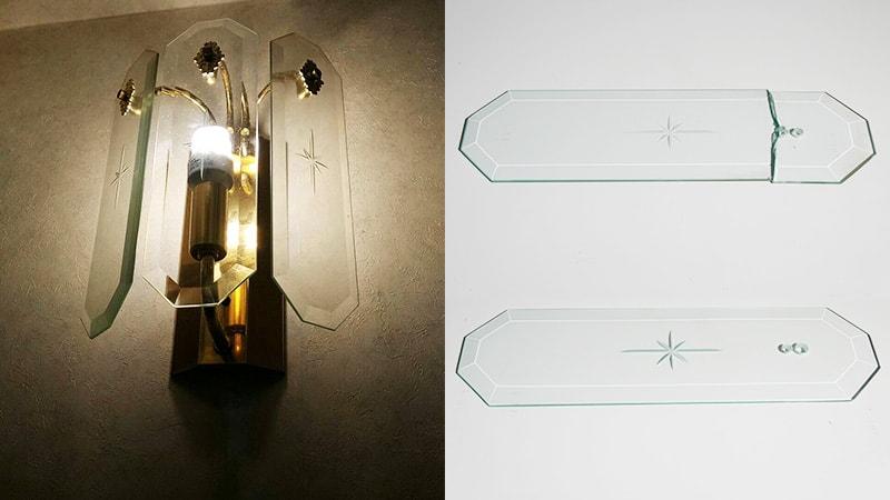 お部屋のランプカバーの割れ替えに「透明ガラス」を用いた事例(東京都練馬区 建具屋M様)のお写真
