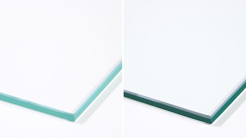 「高透過ガラス」と「フロートガラス」断面の色味の違いを比較してみた!