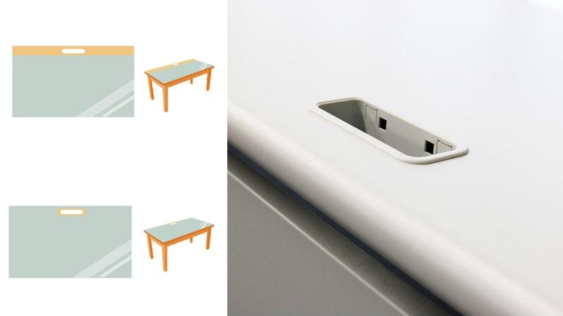 書斎テーブルにコンセント穴がある場合の「テーブルトップ」の作り方