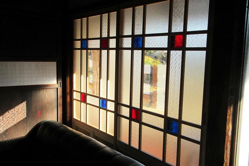 ガラスを組み合わせて窓ガラス製作(窓ガラス2枚目)