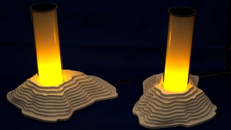〈ガラスと光〉LEDを使った展示作品に「CTE33」を使用した事例(千葉県千葉市 S様)のお写真