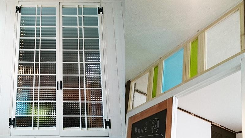 子供部屋の間仕切りに!オシャレなデザインガラスを使用した事例(宮城県仙台市 E様)のお写真