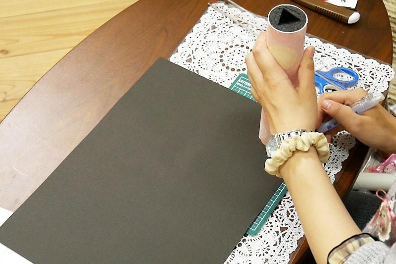 万華鏡の作り方 覗き窓をつける(1)