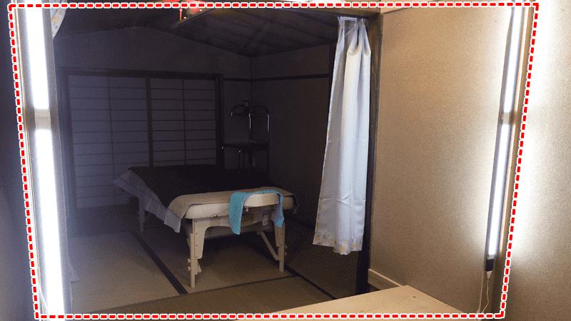 アロマエステサロンの姿見に「ブルーカットミラー」を設置した事例(大阪府大阪市 N様)のお写真