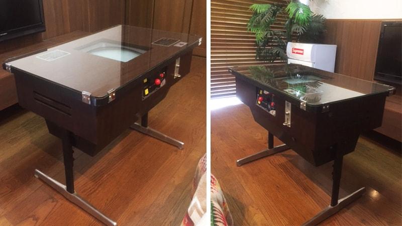 古いゲームの筐体をリメイク!テーブルとしてガラス天板を設置した事例(埼玉県吉川市 A様)のお写真