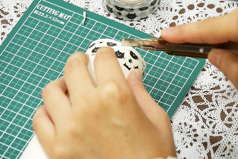 万華鏡の作り方 紙筒をカットする(3)
