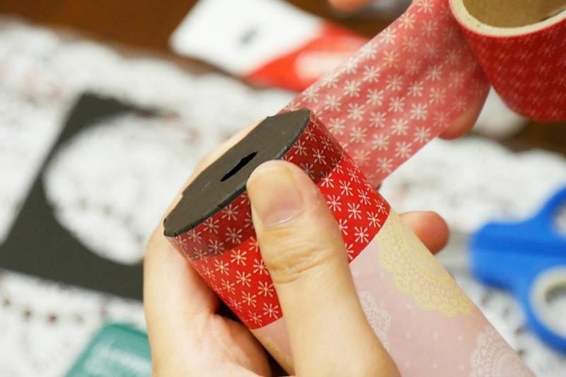 万華鏡の作り方 マスキングテープをまく(1)