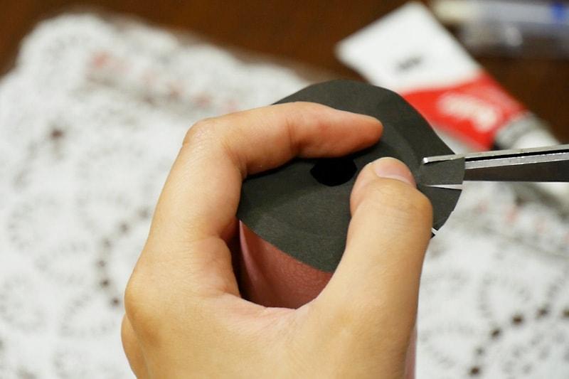 万華鏡の作り方 覗き窓をつける(7)