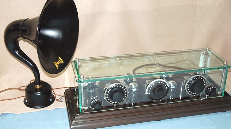 100年前のラジオを修理!ラジオの筐体に「強化ガラス」を使用した事例(長野県松本市 K様)のお写真