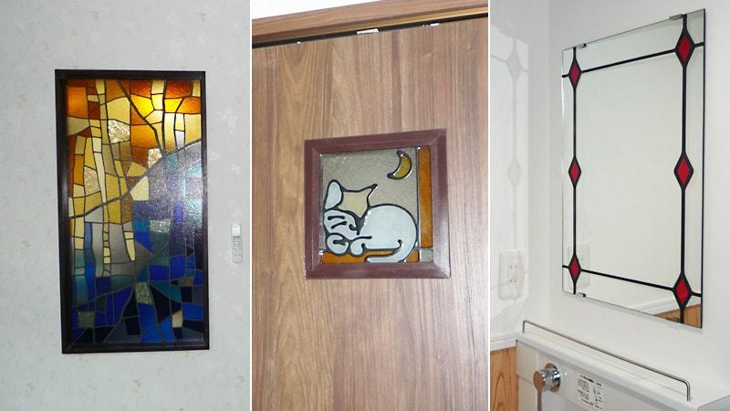 ステンドグラスで華やかに!新居に「ステンドグラス」と「ステンドミラー」を設置した事例(東京都江戸川区 M様)のお写真