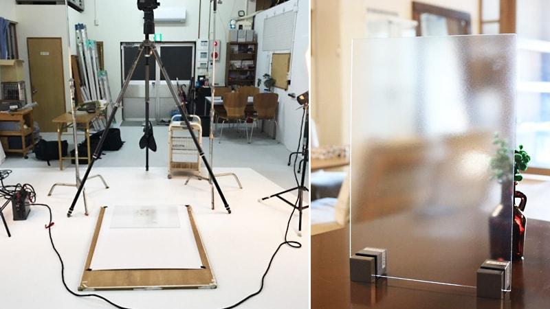 写真撮影用に無反射ガラス「ノングレアS」を使用した事例(静岡県浜松市 F写真事務所)のお写真