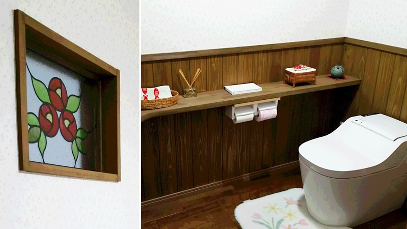グッと華やかに!トイレの小窓に「ステンドグラス」を設置した事例(島根県松江市 Y様)