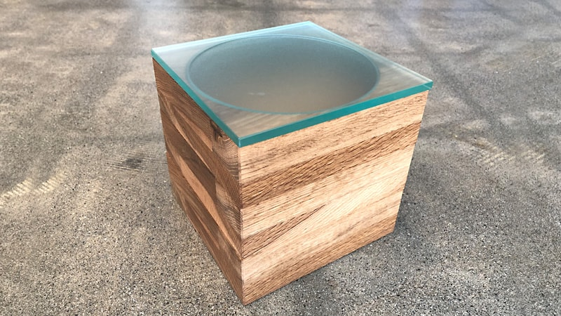 自作の重箱の蓋に「フロストガラス」と「透明ガラス」を使用した事例(岐阜県高山市 H様)のお写真