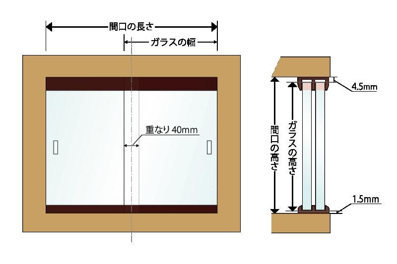 食器棚の引き戸に使用した「透明ガラス」(3)