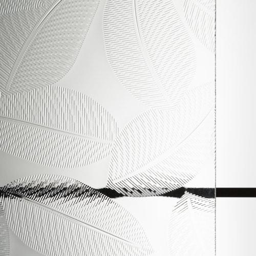 昭和型板ガラス リーフ (SKG-006)のお写真