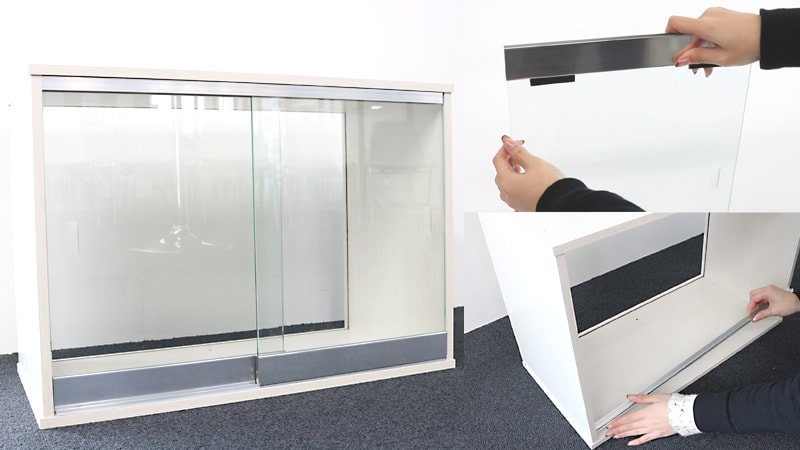 「ガラス引き戸製作セット」で簡単DIY!ガラス引き戸の取り付け方法