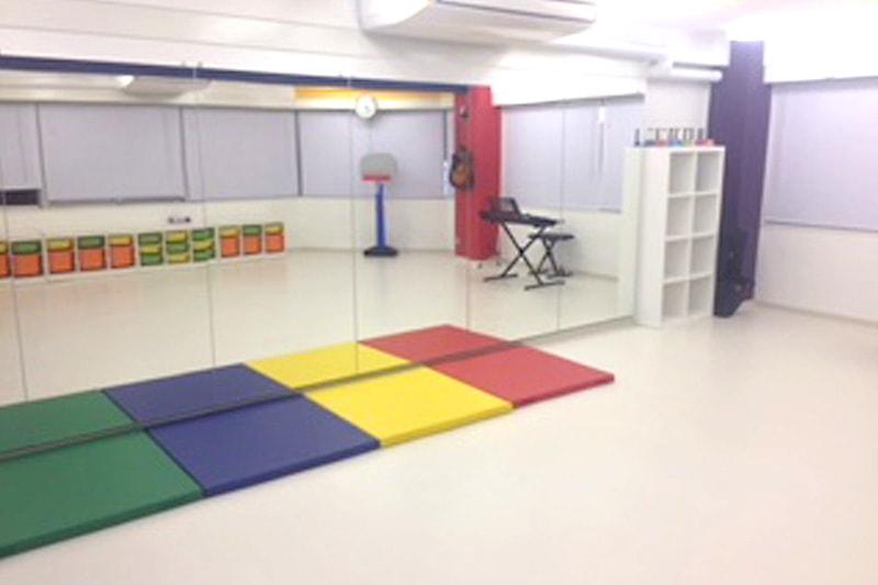 アメリカンスクールのダンススタジオに使用した「パネルミラー」(1)