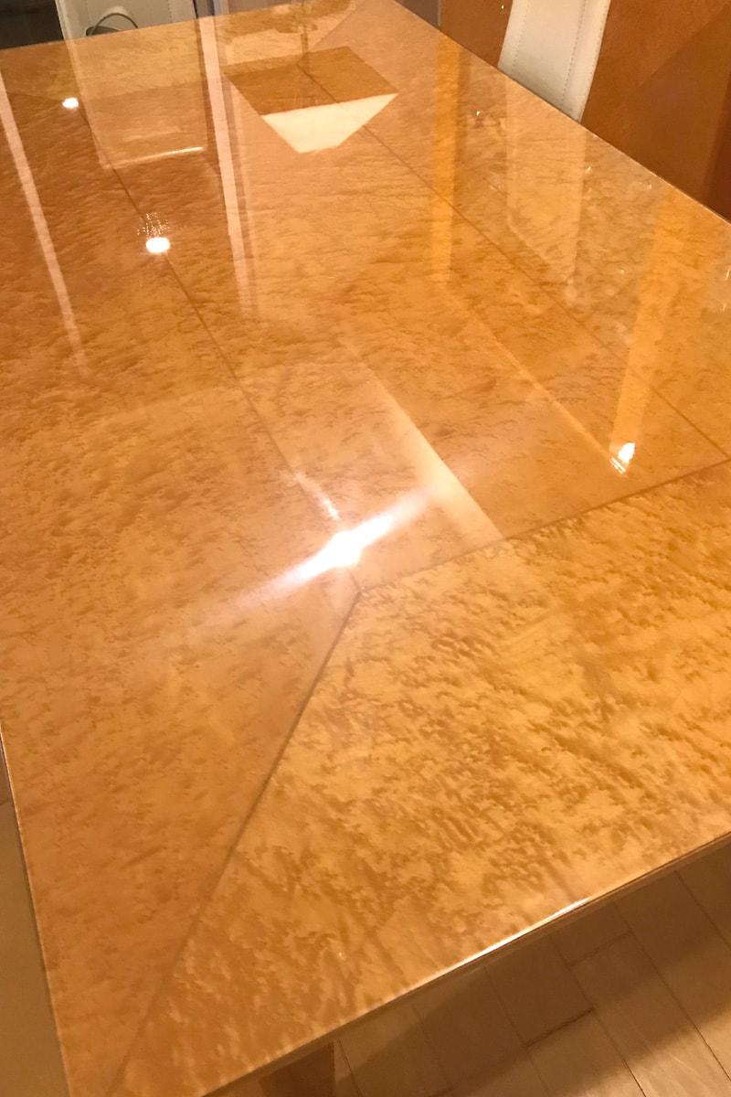テーブルトップに使用した「強化ガラス」(2)