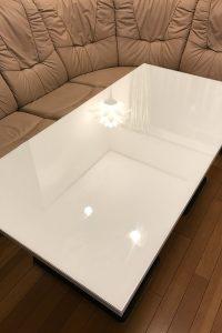 人造大理石のテーブルに使用した「強化ガラス」(3)
