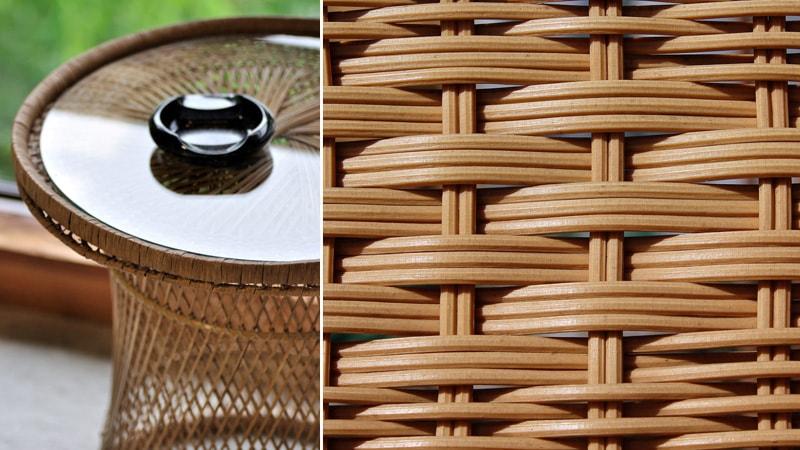 籐(ラタン)テーブルに「強化ガラス」のテーブルトップを使用した事例4選のお写真