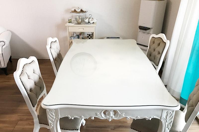 アンティークなテーブルに使用した「強化ガラス」(1)