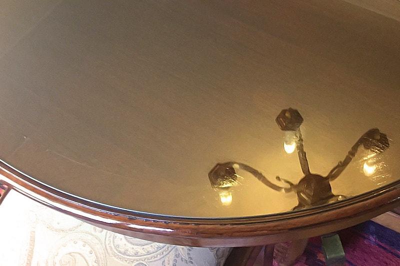 小判形・楕円テーブルに使用した「強化ガラス」(2)