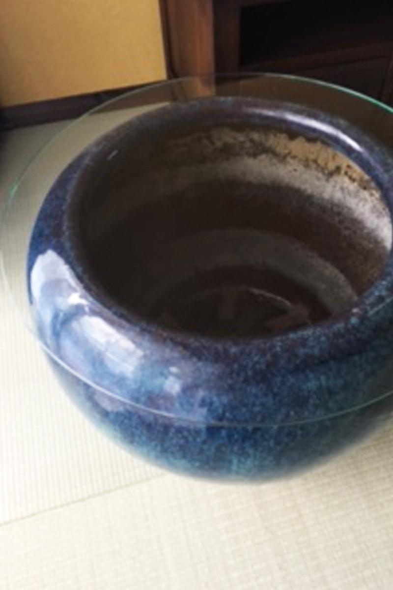 火鉢のテーブルトップに使用した「強化ガラス」(3)