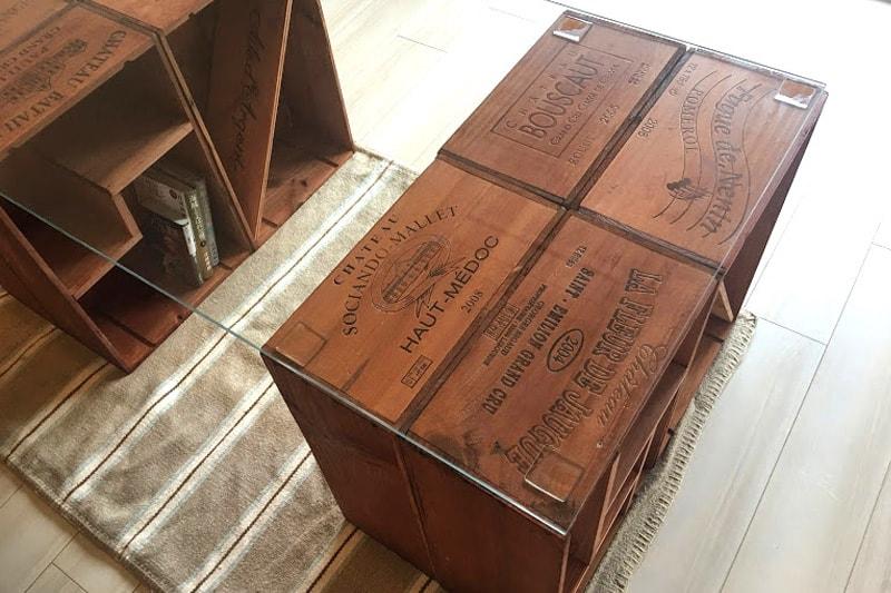 ワイン木箱のテーブル天板に使用した「強化ガラス」(2)