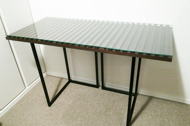 自作のテーブルトップに使用した「強化ガラス」(1)