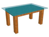 テーブルトップのガラス厚-平置き