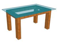 テーブルトップのガラス厚-四辺単純支持