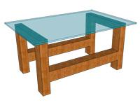 テーブルトップのガラス厚-短辺二辺単純支持