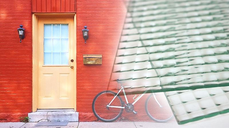 アンティークなドア窓に!デザインガラスの「チェッカーガラス(リストラルM)」を使用した事例2選のお写真