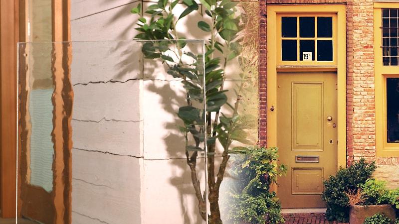 さりげなくレトロに!ドア窓にデザインガラスの「昭和レトロ風ガラス」を使用した事例2選のお写真