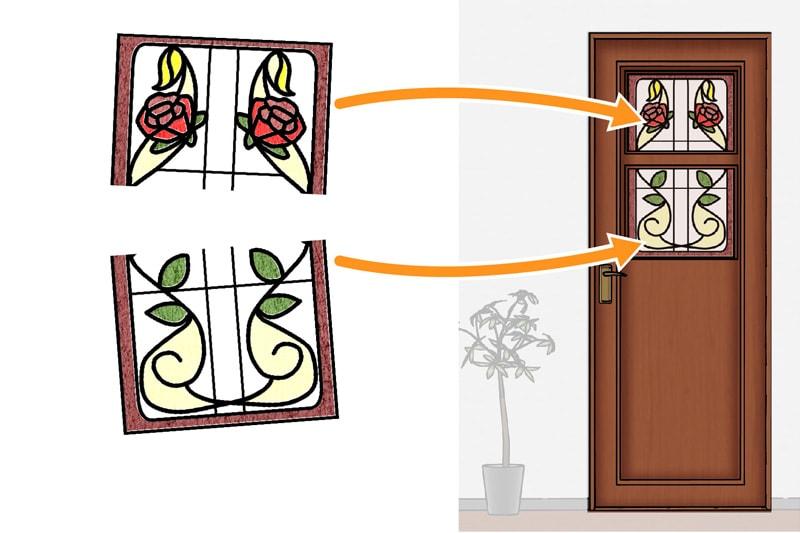 規格ステンドグラスのカットはできる?(4)