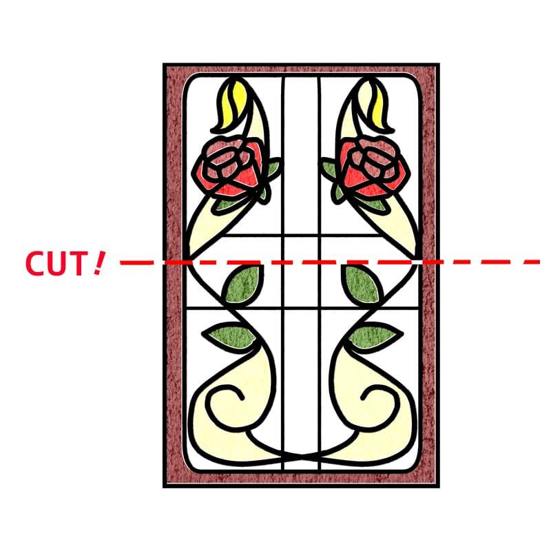 規格ステンドグラスのカットはできる?(2)