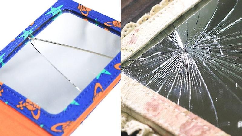 割れてしまった「折りたたみミラー」を修理した事例4選のお写真