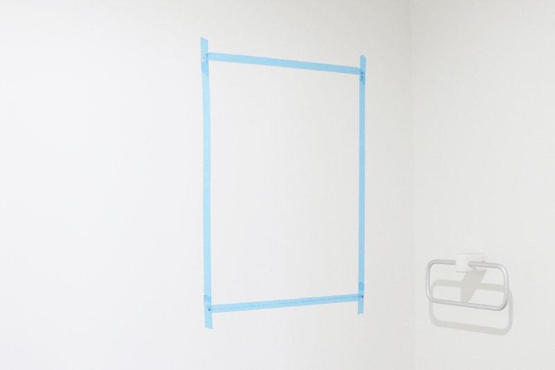 ツメ金具・速乾ボンド・ミラーマットを使用した鏡の取付方法(2)