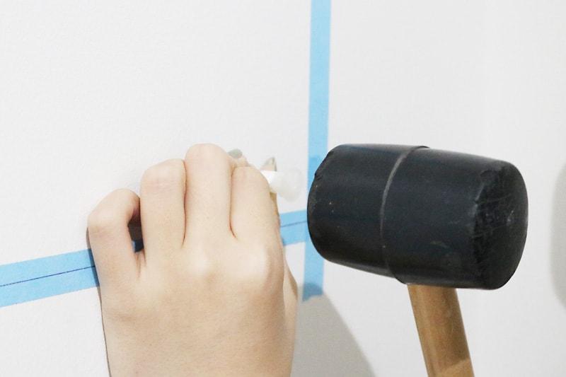 ツメ金具・速乾ボンド・ミラーマットを使用した鏡の取付方法(5)