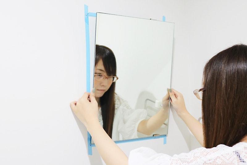 ツメ金具を使用した鏡の取付方法(10)