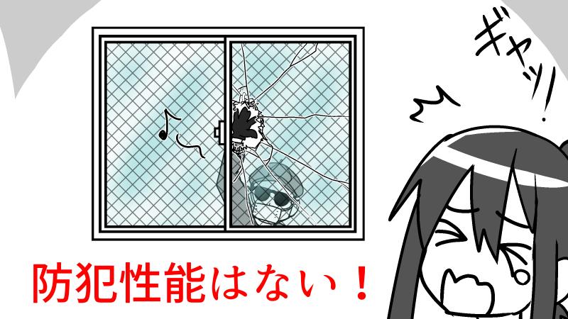 網入りガラスに防犯性能はあるの?