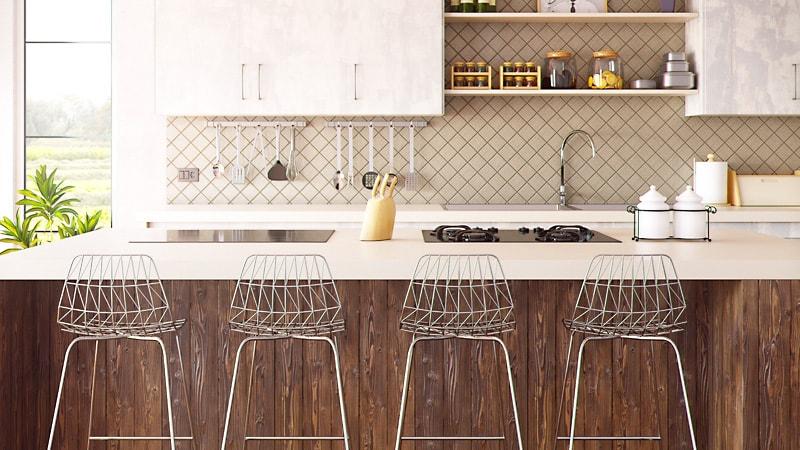 キッチンに強化ガラスの「油はねガードスタンド」を設置した事例3選のお写真