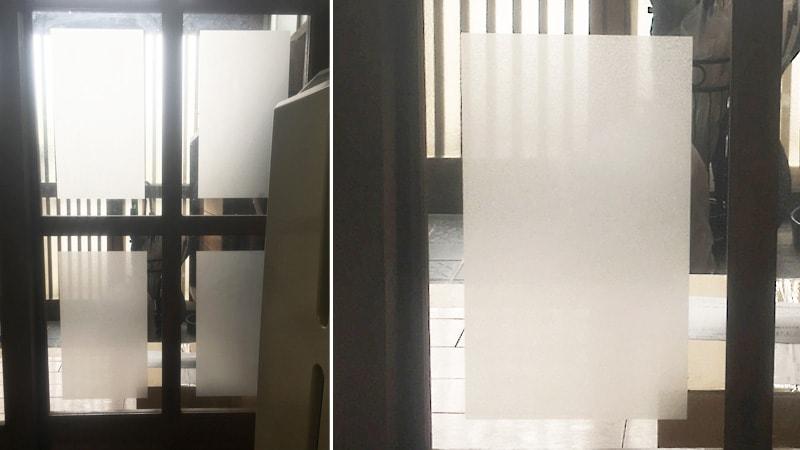 引き戸のガラス窓を割れ替え!すり加工の「透明ガラス」を設置した事例(京都府京都市 J様)のお写真